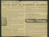 Early days at Avondale recalled