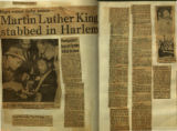 Martin Luther King stabbed in Harlem