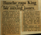 Bunche raps King for mixing issues