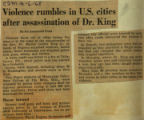 Violence rumbles in US cities after assassination of Dr King