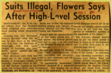 Suits illegal Flowers says after high level session