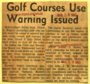 Golf course use warning issued