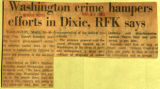 Washington crime hampers efforts in Dixie RFK says
