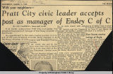Pratt City civic leader accepts post as manager of Ensley C of C