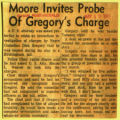 Moore invites probe of Gregorys charge