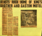 Blasts rock home of Kings brother and Gaston Motel