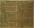 Grace and vision too