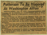 Patterson to be honored at Washington affair