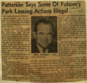 Patterson says some of Folsoms park leasing actions illegal