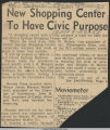 New shopping center to have civic purpose