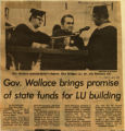 Gov Wallace brings promise of state funds for LU building
