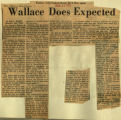 Wallace does expected