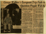 George Wallaces European trip fails to answer question people will be asking in 1976