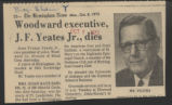 Woodward executive J. F. Yeates Jr. dies