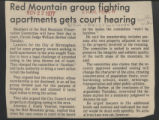 Red Mountain group fighting apartments gets court hearing