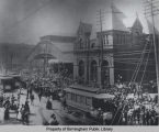 Volunteers leaving Birmingham's Union Station for the Spanish American War
