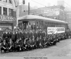 Streetcar employees going to the Lyric Theatre