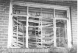 Bombed window in home of Arthur Shores
