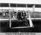 O.V. Hunt and Edmund Heth in an Early Biplane