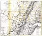 Military Map Showing the Topographical Features of the Country Adjacent to Harpers Ferry, Virginia