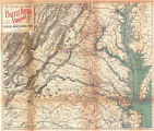 Map Showing the Location of Battlefields of Virginia