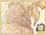 Carte de la Virginie et du Maryland