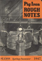 Pig iron rough notes. 1947 heat no. 104 (Spring-Summer)