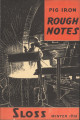 Pig iron rough notes. 1938 heat no. 71 (Winter)