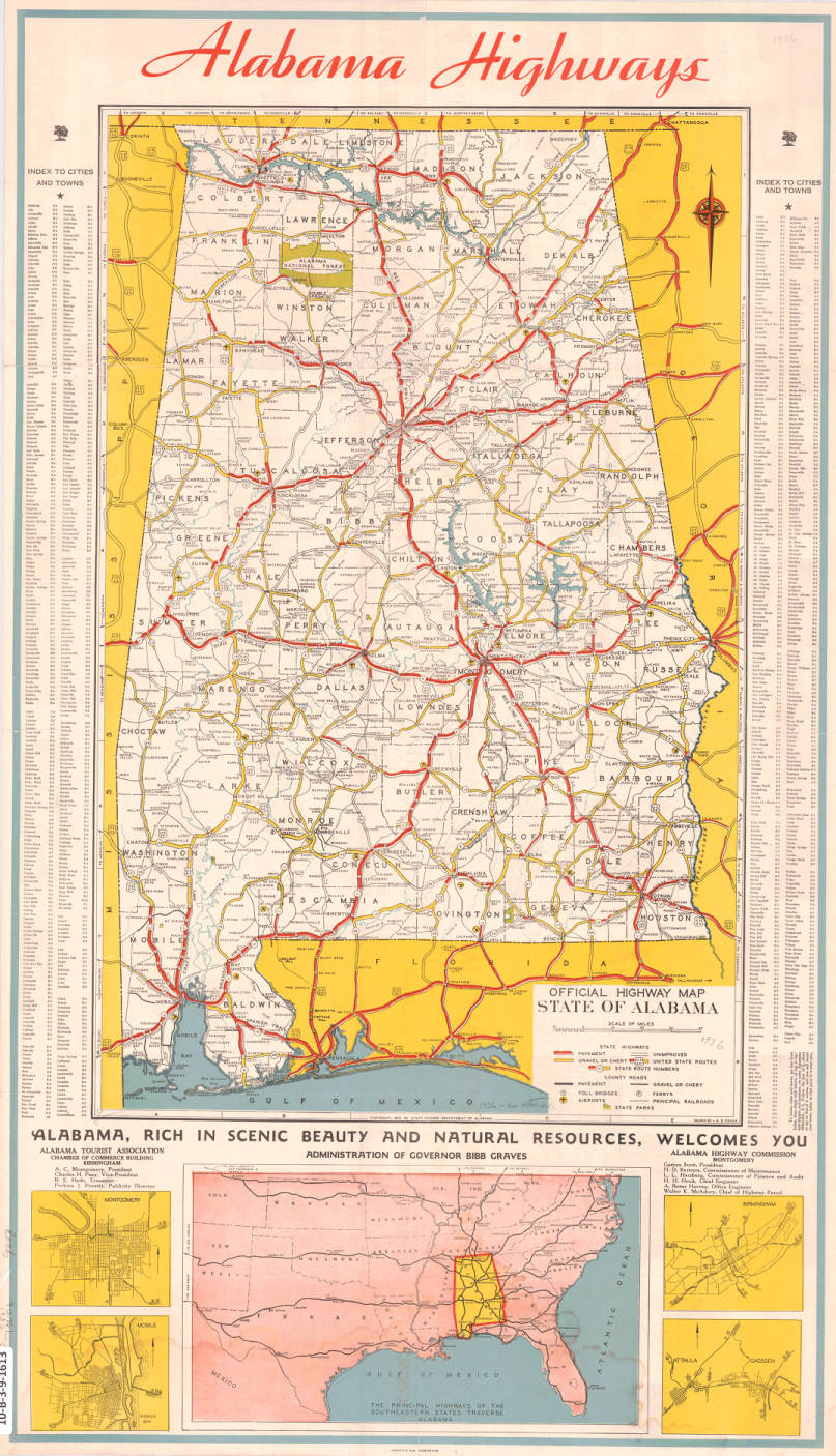 Official Highway Map State Of Alabama Maps Project Birmingham - Alabama highway map
